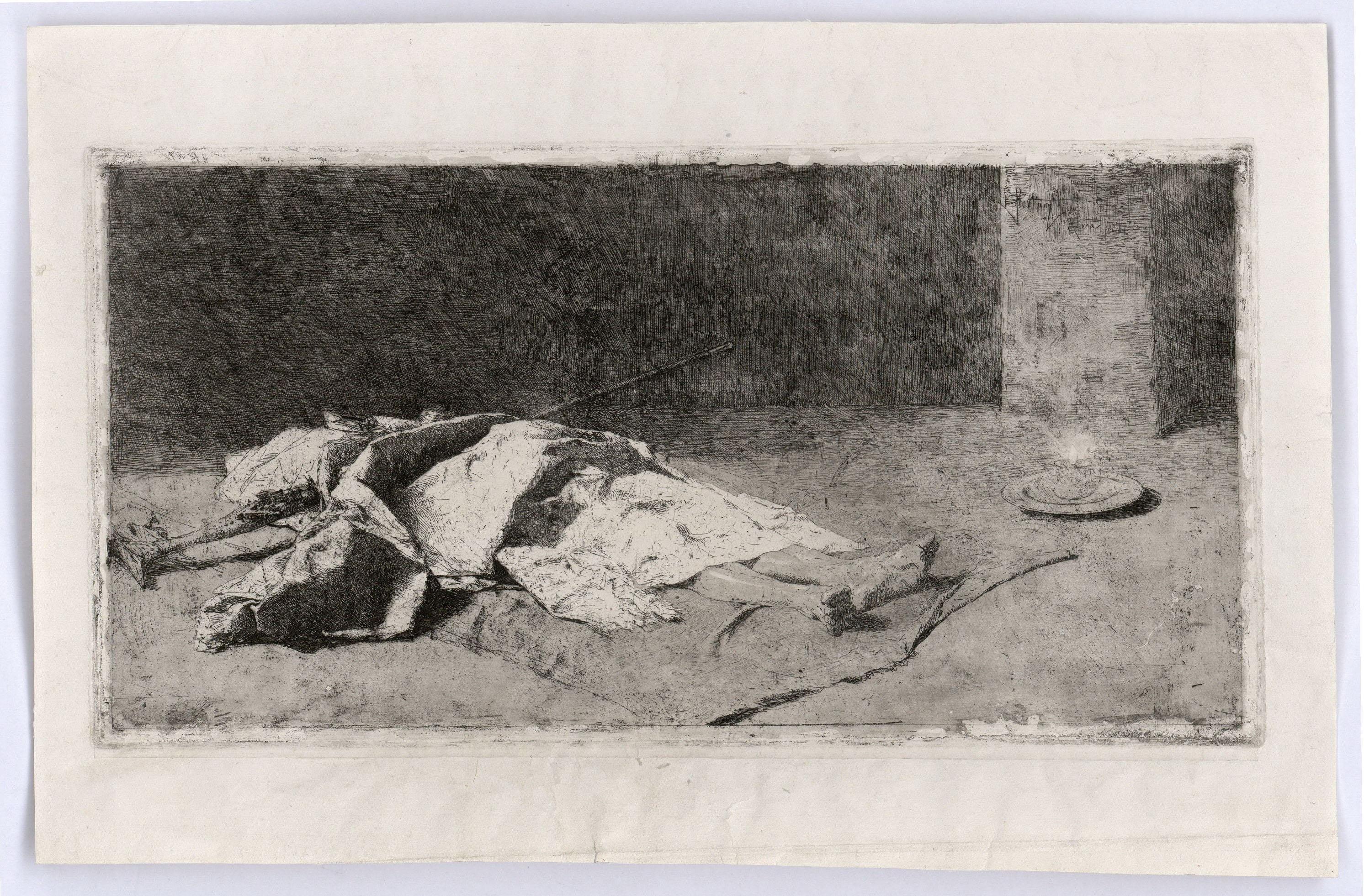 Marià Fortuny - Cabilenc mort - 1867