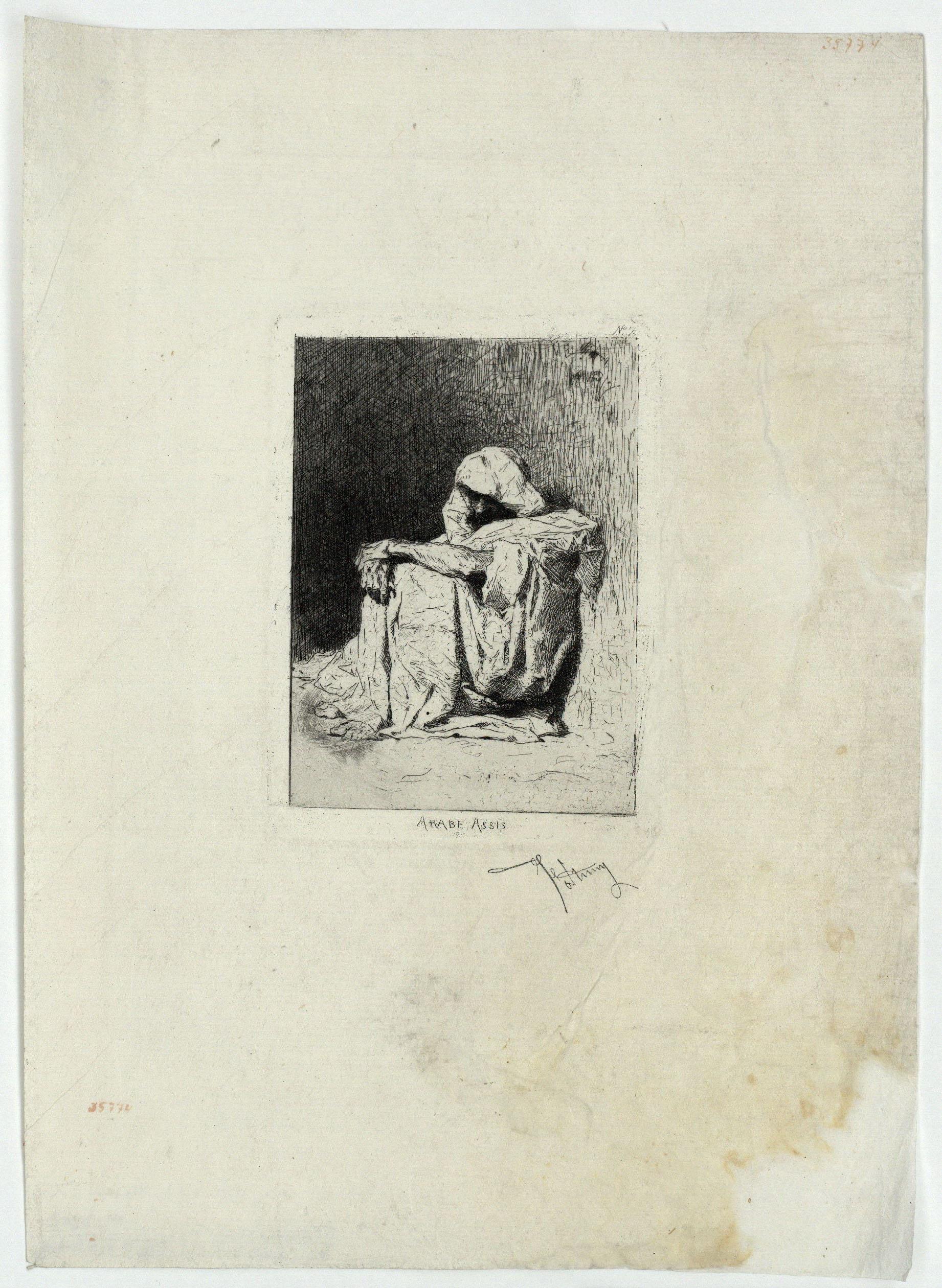 Marià Fortuny - Arabe assis (Àrab assegut) - [no-dating]