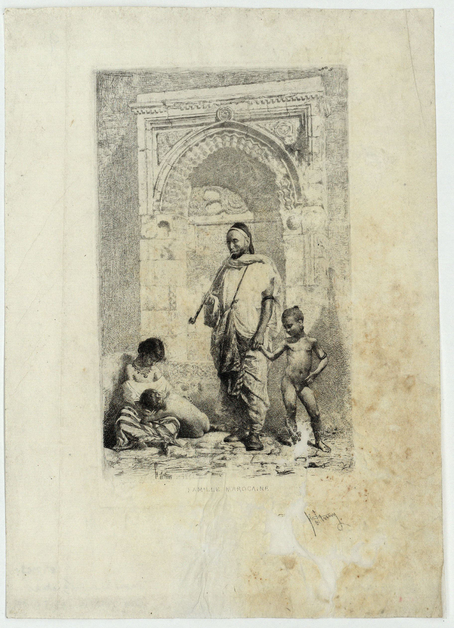 Marià Fortuny - Famille marocaine (Família marroquina) - 1862