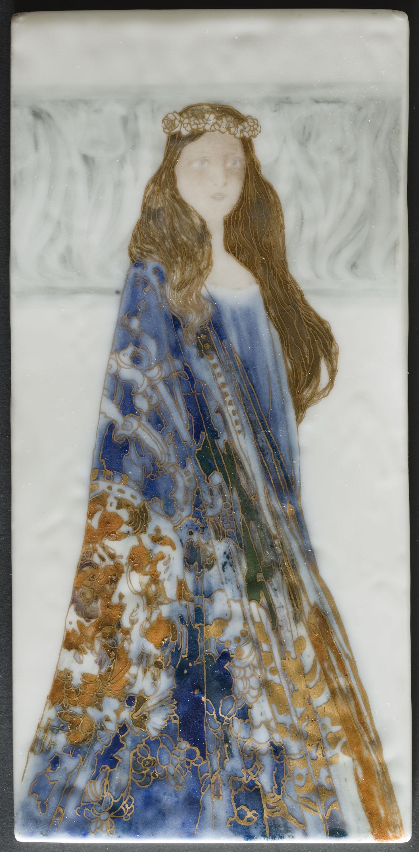 Antoni Serra - Placa decorativa amb figura femenina - 1901-1907