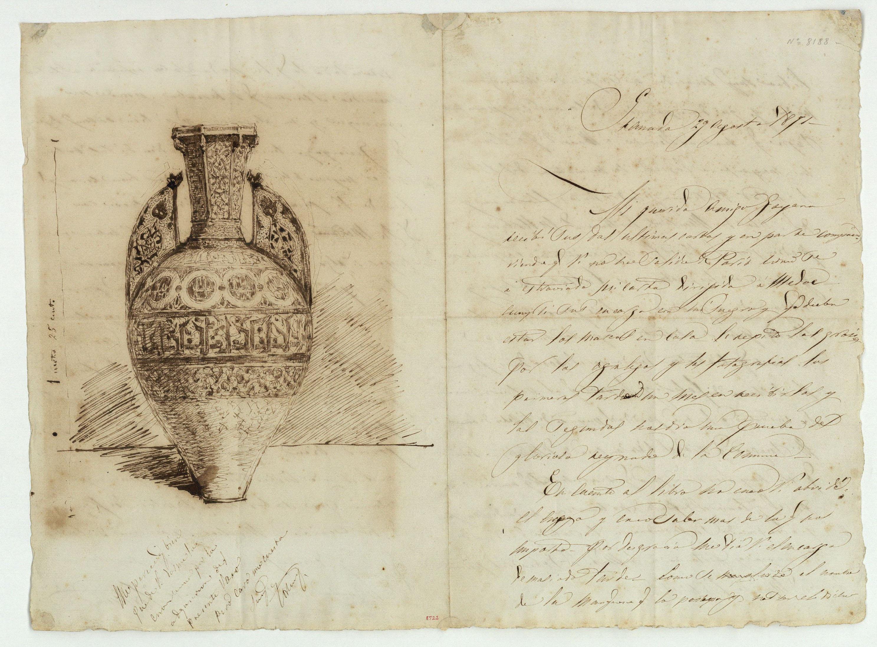 Marià Fortuny - Muslim-style vase - 1871
