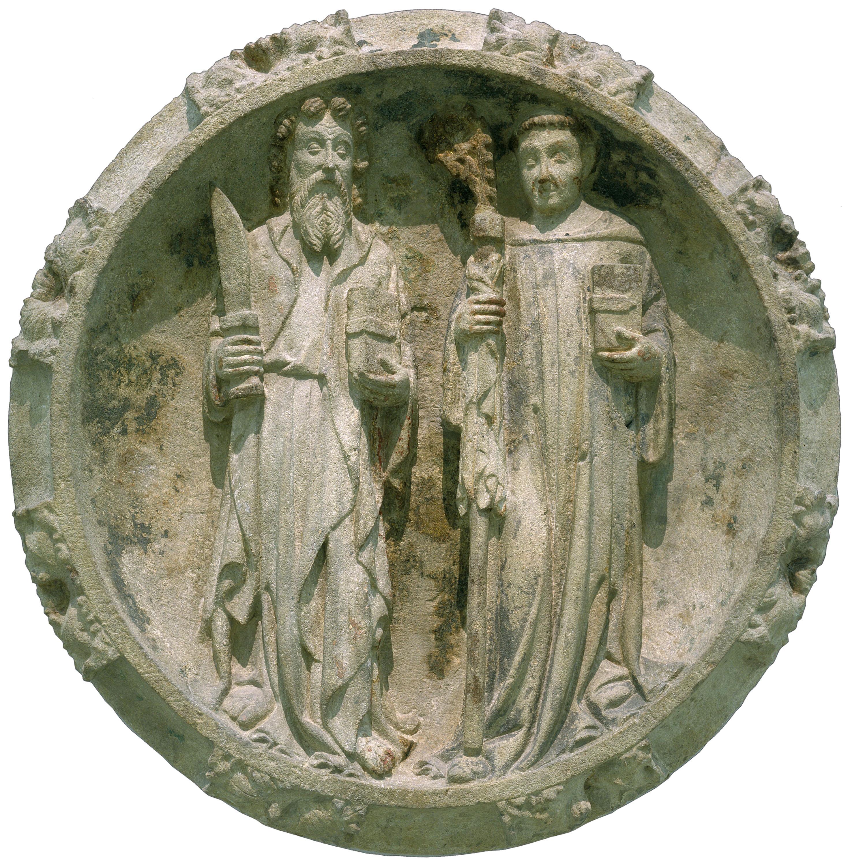 Jordi de Déu - Sant Bartomeu i un sant abat - Finals del segle XIV