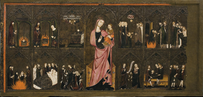 Mestre de Vallbona de les Monges (Guillem Seguer ?) - Frontal del Corpus Christi - Cap a 1335-1345