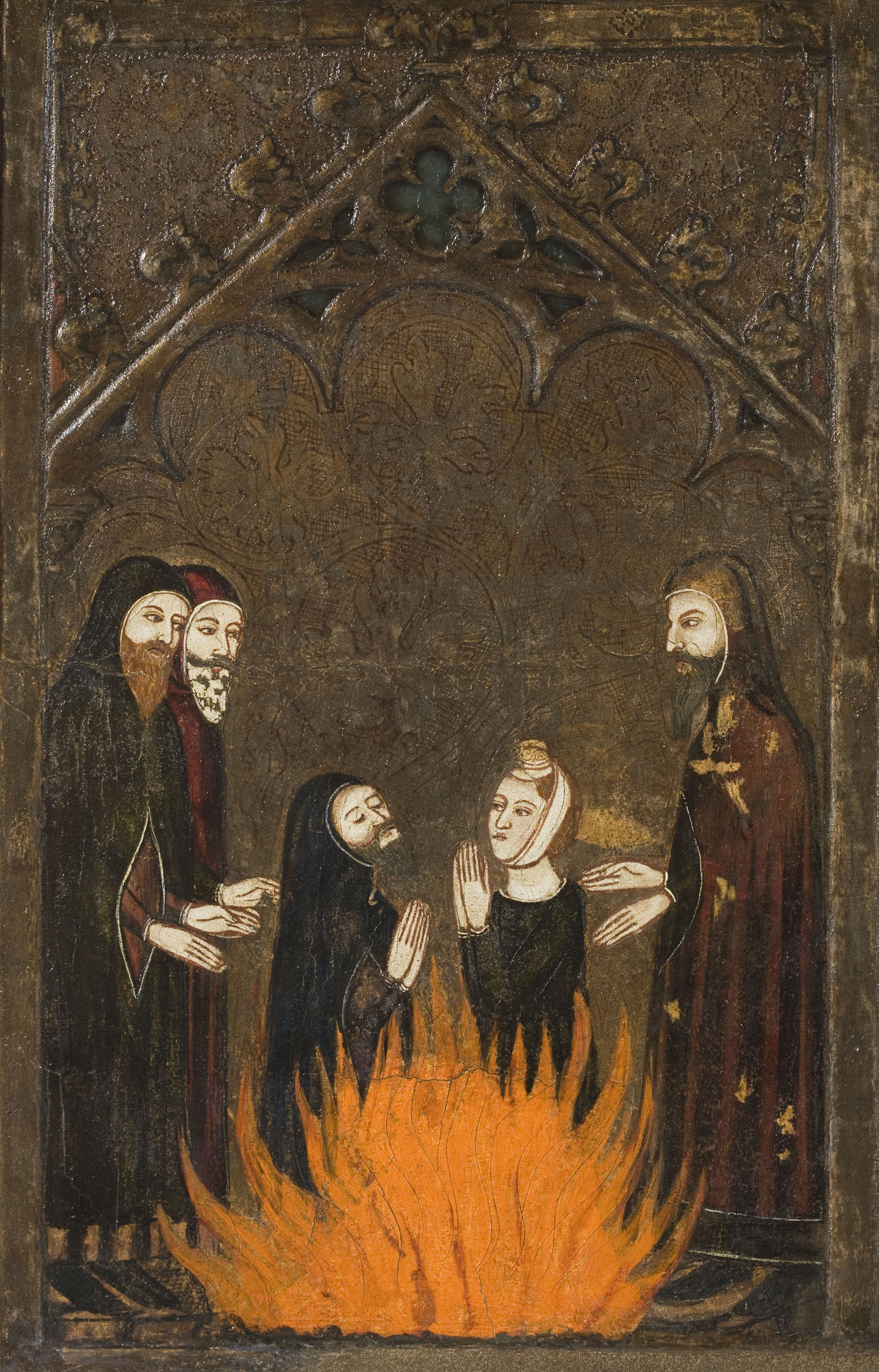 Mestre de Vallbona de les Monges (Guillem Seguer ?) - Frontal del Corpus Christi - Cap a 1335-1345 [1]