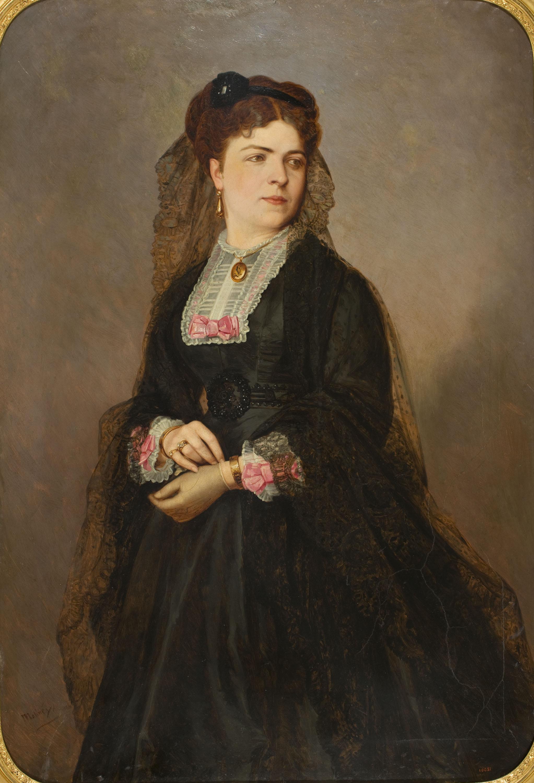 Moliné y Albareda. Barcelona - Retrat femení - Cap a 1870