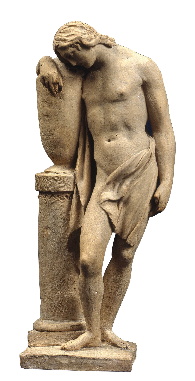 Damià Campeny - Nu masculí recolzant-se en un gerro funerari - 1805-1815