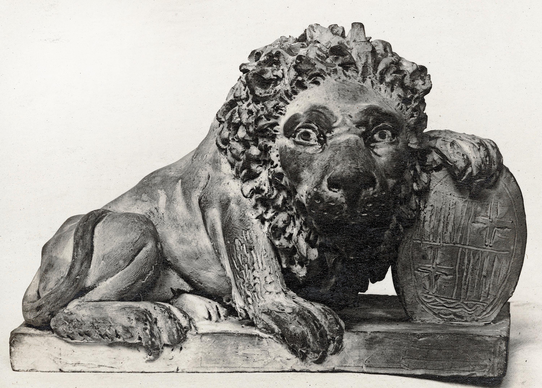 Damià Campeny - Lleó amb l'escut de Barcelona - Cap a 1802