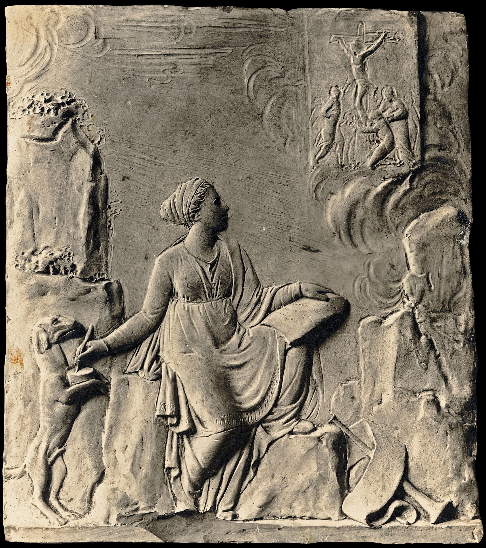 Damià Campeny - La Fama escrivint la història de Crist: La Crucifixió - Cap a 1816