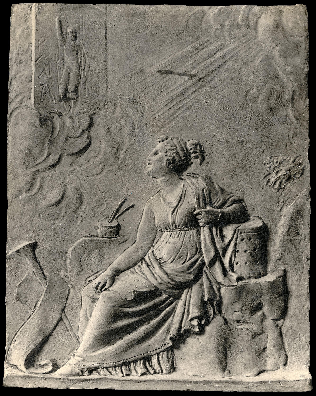 Damià Campeny - La Fama escrivint la història de Crist: La Resurrecció - Cap a 1816