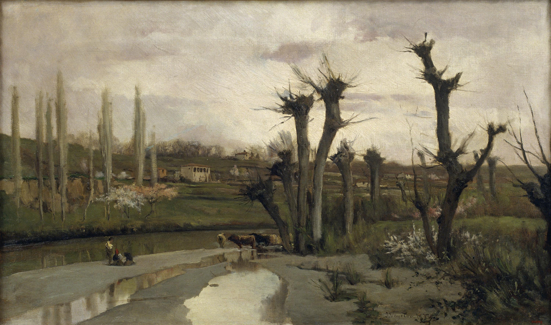 Joaquim Vayreda - Inici de primavera - 1877