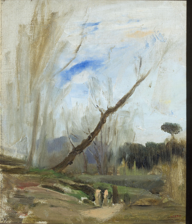 Joaquim Vayreda - L'arbre tort - Cap a 1890