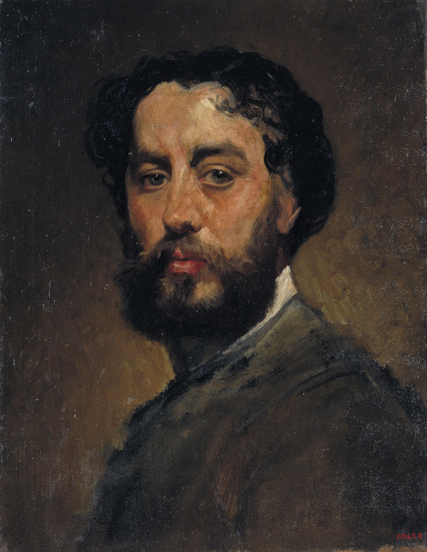 Antoni Caba - Autoretrat - Cap a 1875-1880