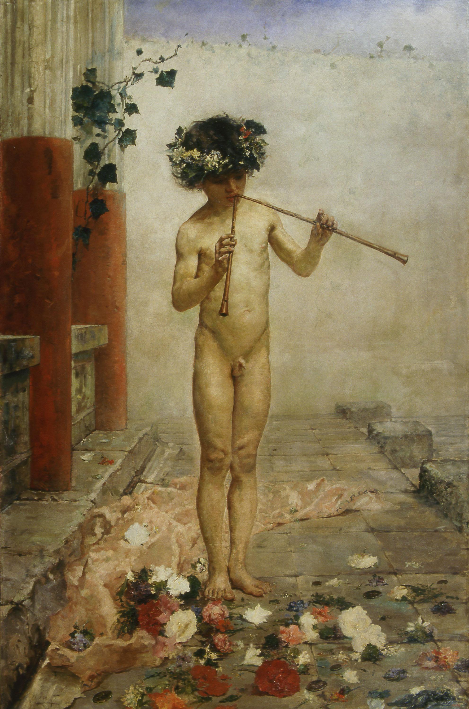 Arcadi Mas i Fondevila - Nen pompeià - Roma, 1879