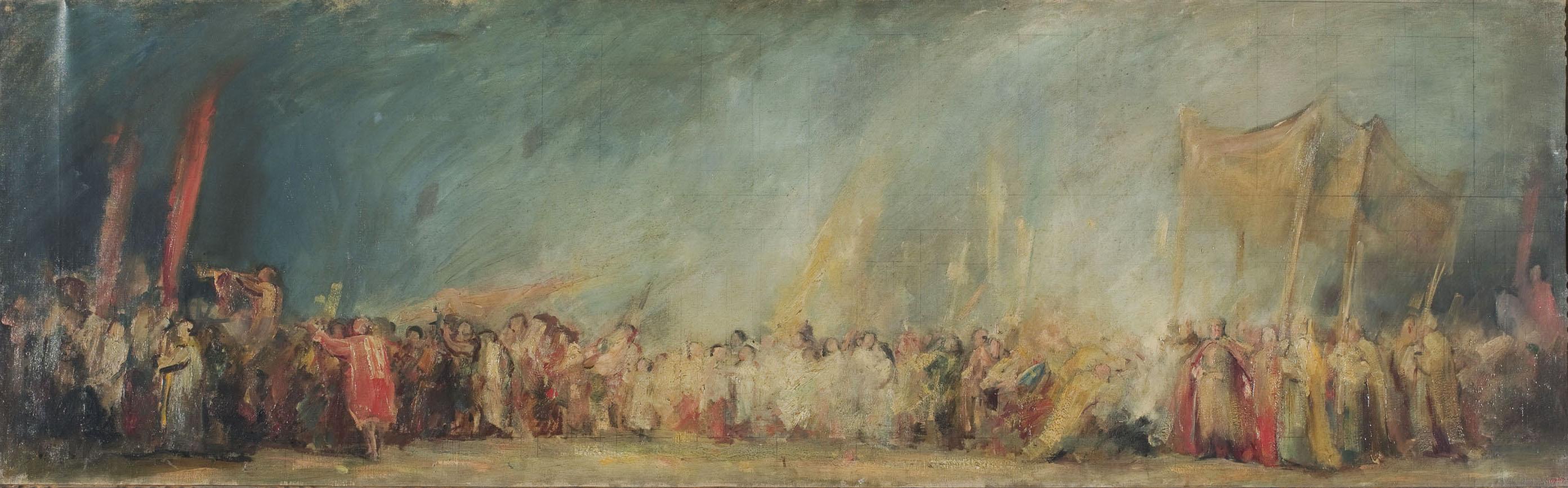 Aleix Clapés - Translació de les despulles de santa Eulàlia de Santa Maria del Mar a la catedral - Cap a 1890-1902
