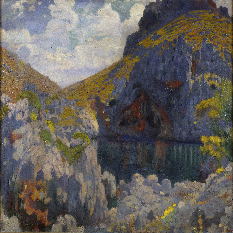 Joaquim Mir - Oro y azur - Mallorca, hacia 1902