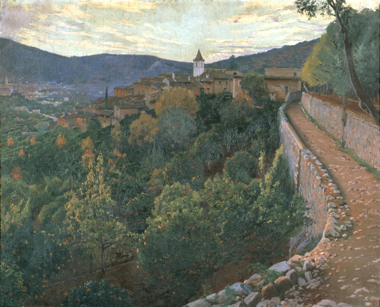 Santiago Rusiñol - Capvespre - Mallorca, 1906