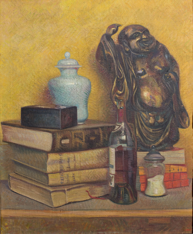 Feliu Elias - Natura morta del déu Hotei - 1918