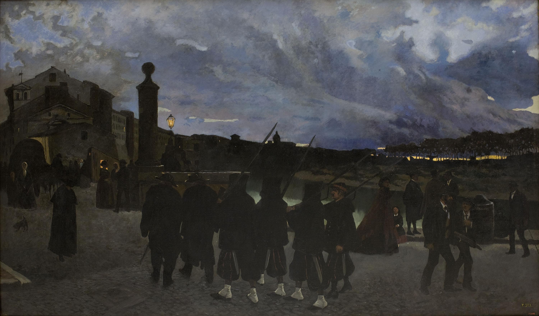 Josep Lluís Pellicer - Zitto. Silenzio, che passa la ronda - Roma, 1869