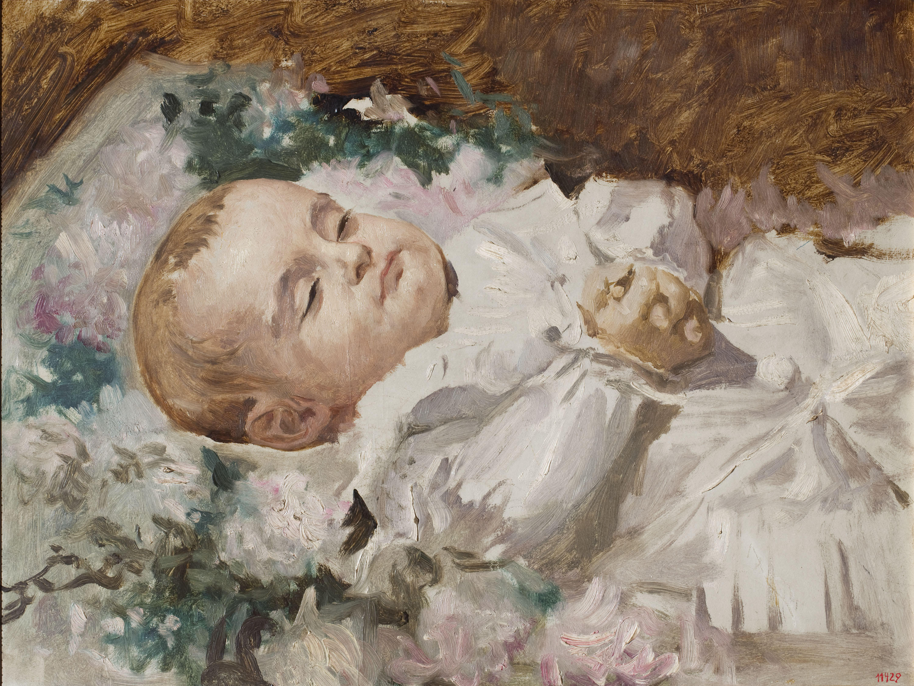Antoni Caba - The Child Josep Maria Brusi on His Deathbed - 1882