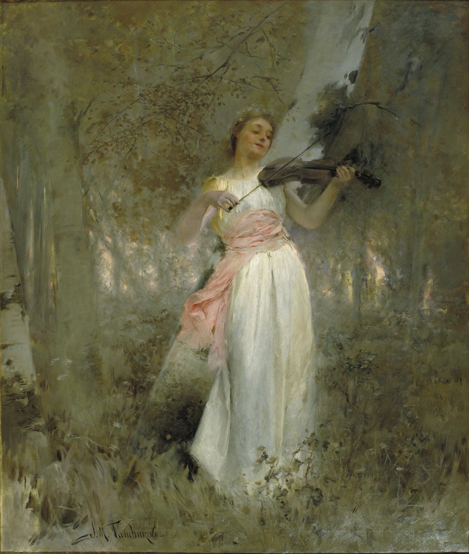 Josep Maria Tamburini - Armonías del bosque - Hacia 1896