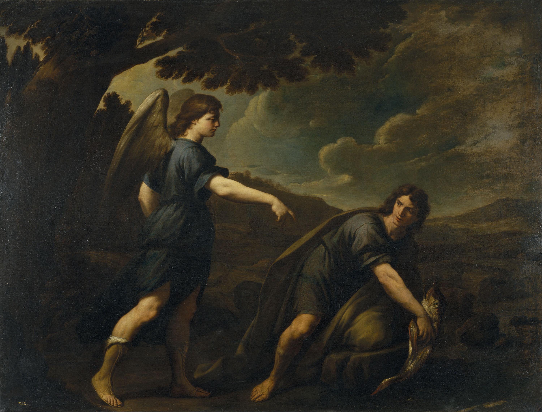 Andrea Vaccaro - Tobies i el peix - 1667
