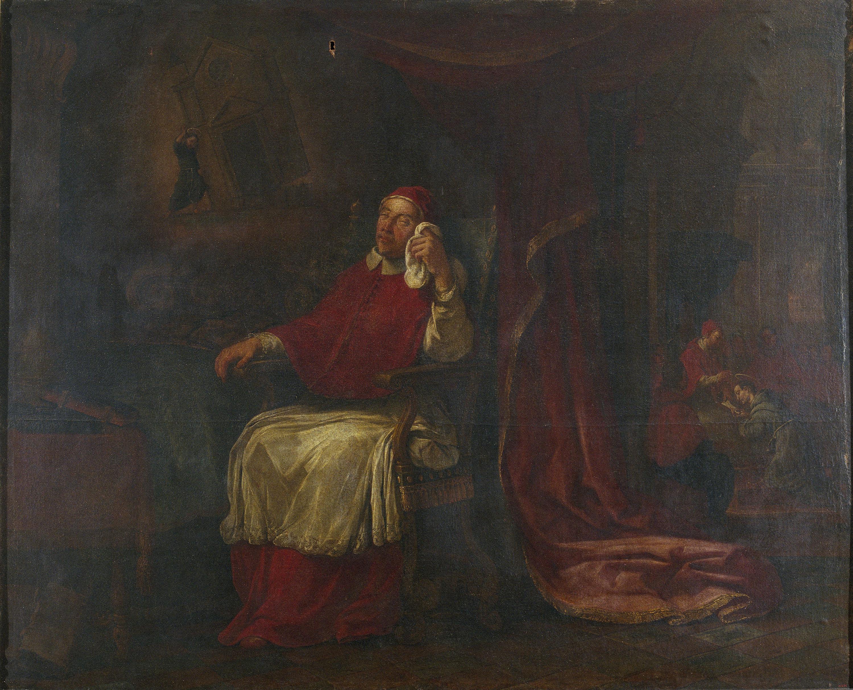 Antoni Viladomat - La visió en somnis del papa Innocent III i la confirmació de la regla franciscana - Cap a 1729-1733