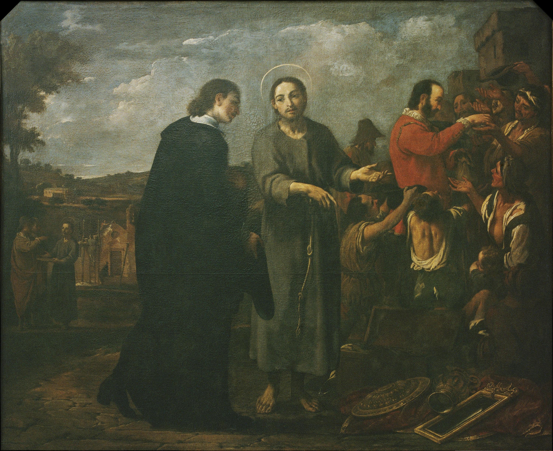 Antoni Viladomat - Bernat de Quintaval reparteix els seus béns als pobres - 1729-1733
