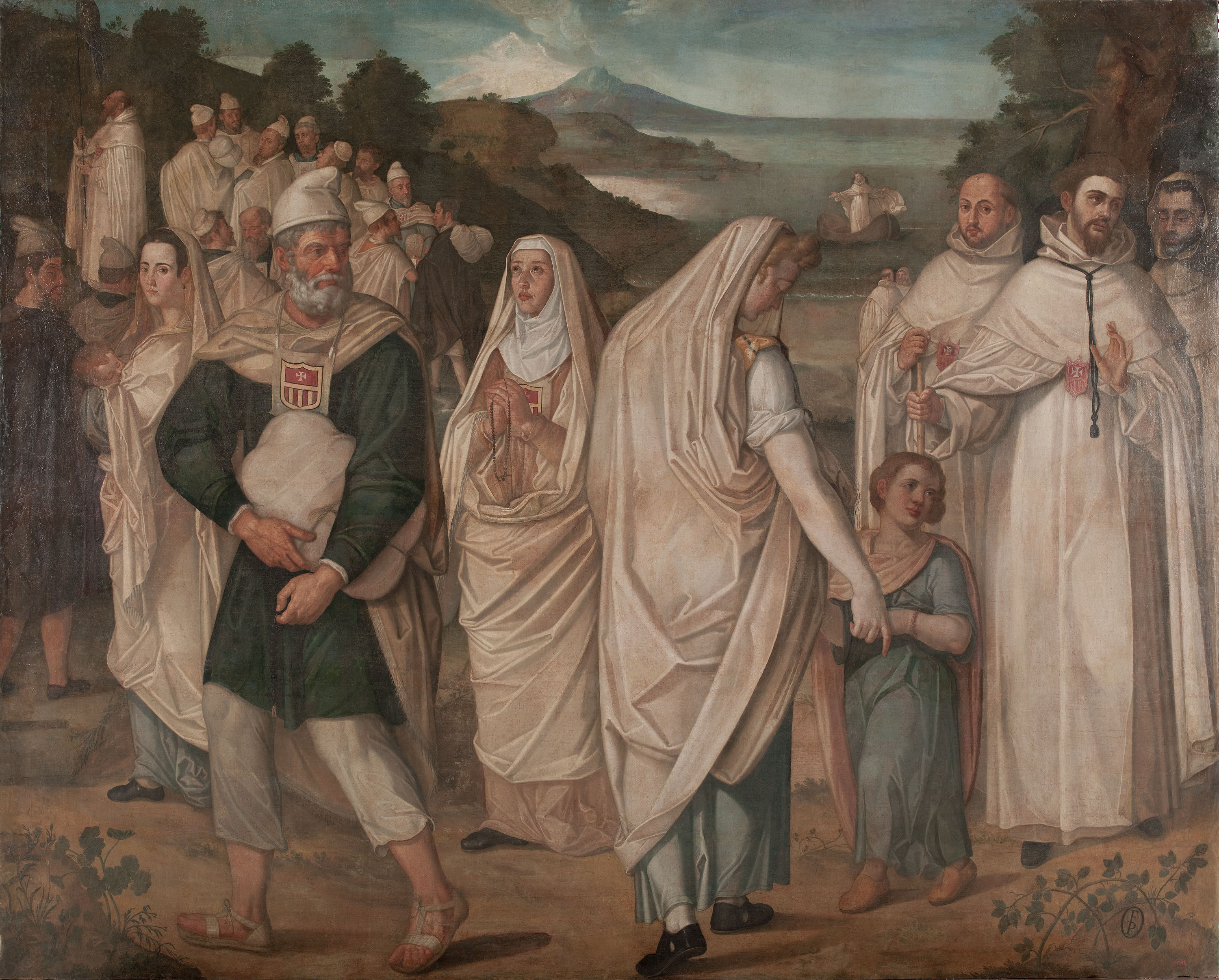 Francisco Pacheco - Disembarkation of Captives Ransomed by Saint Peter Nolasco - 1602