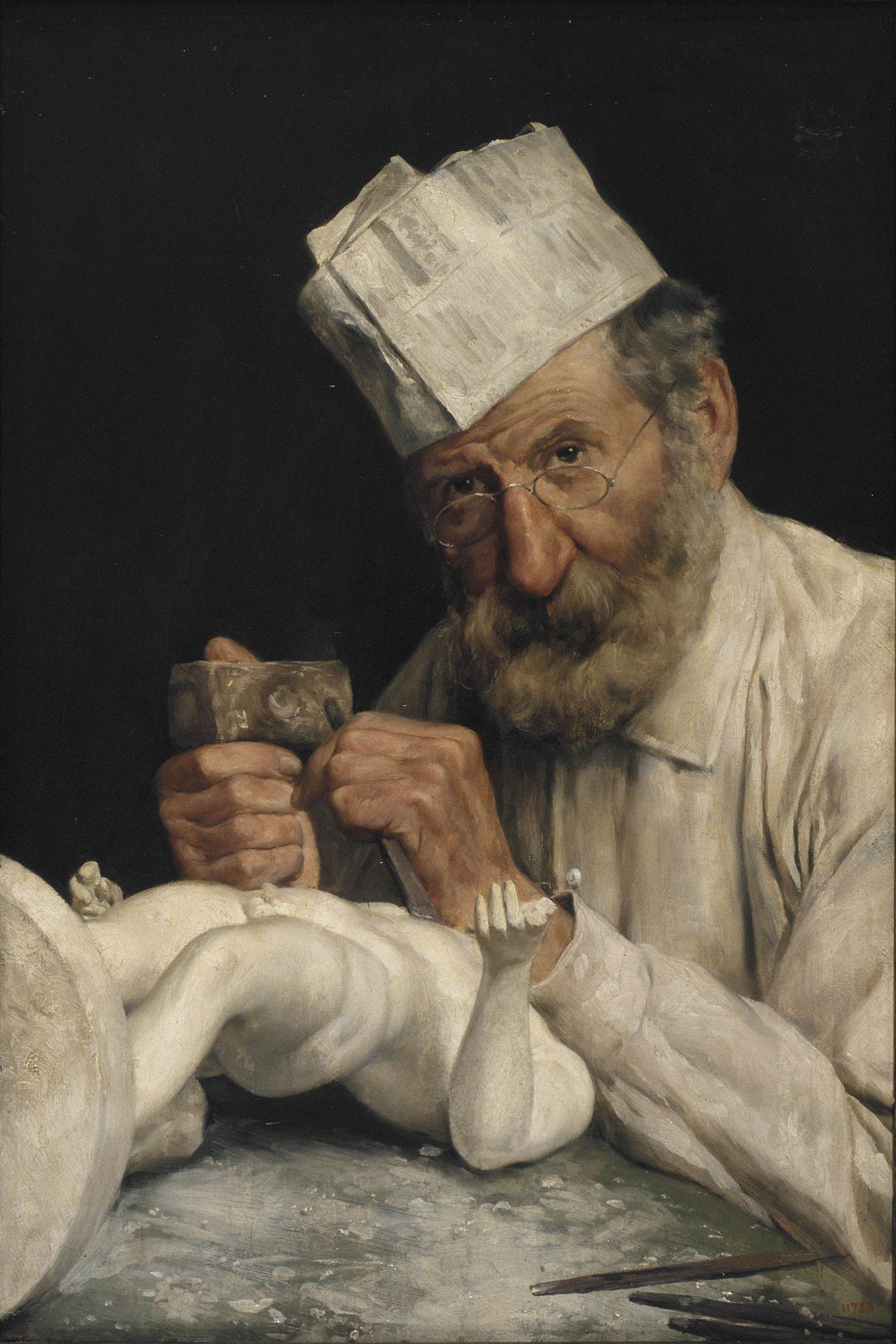 Antoni Fabrés - L'escultor - Roma, cap a 1910