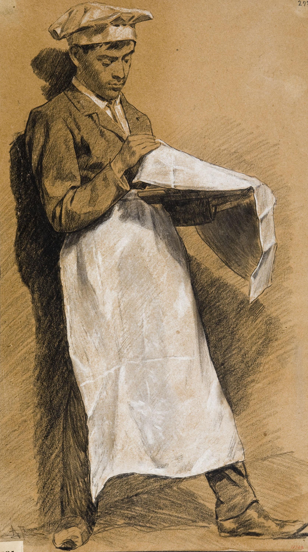 Antoni Fabrés - Ajudant de cuiner - Cap a 1877