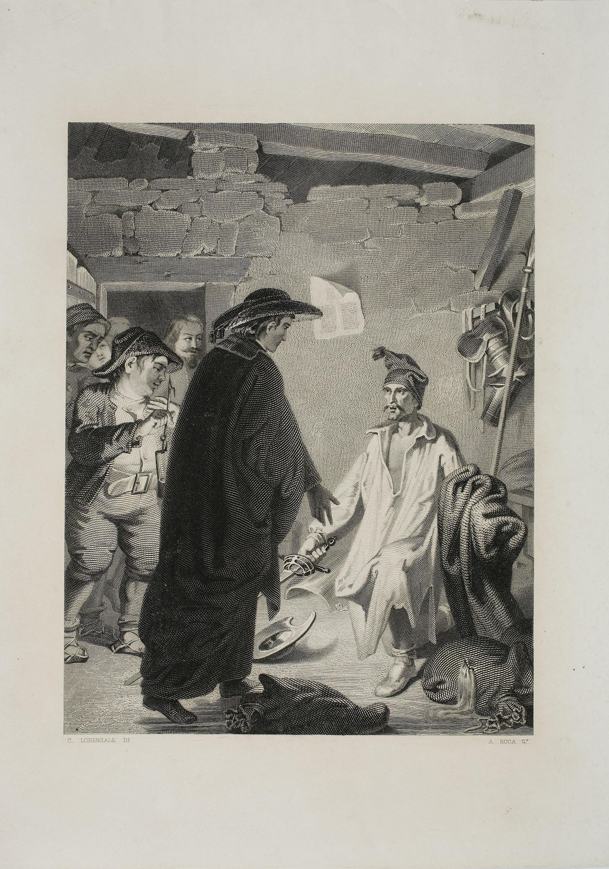 Antoni Roca Sallent - Il·lustració del Quixot - Cap a 1859