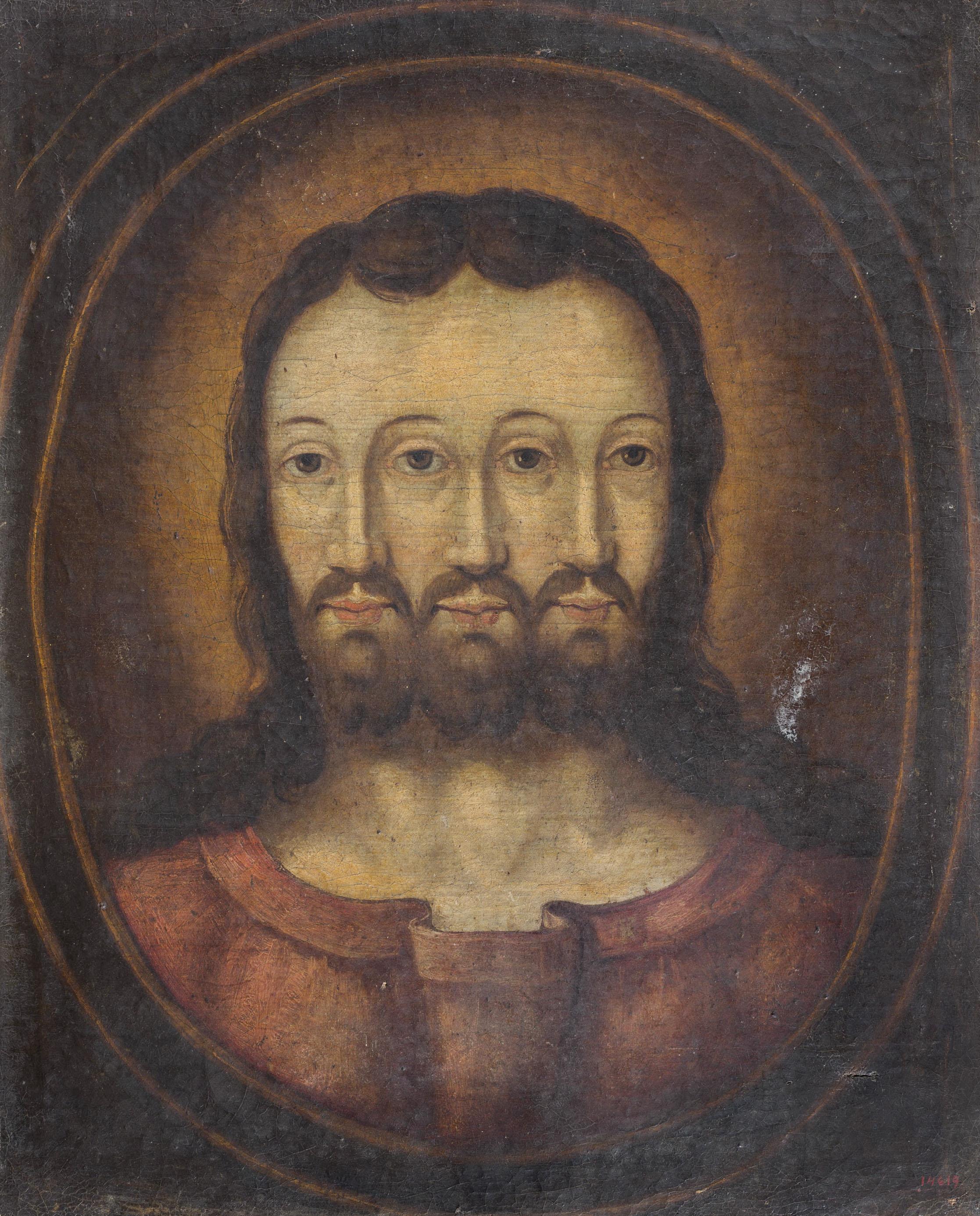 Anònim - Bust trifacial de Crist - Entre 1575-1650