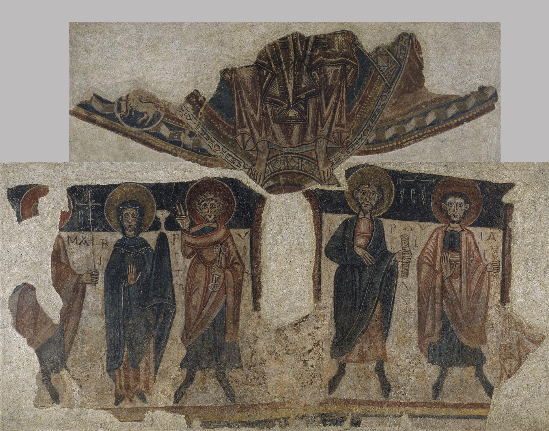 Mestre de Santa Coloma d'Andorra - Pintures de Sant Romà de les Bons - Cap a 1164