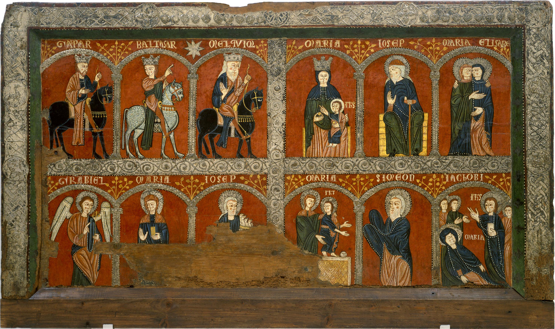 Anònim. Catalunya. Taller de la Seu d'Urgell del 1200 - Frontal d'altar de Mosoll - Primer terç del segle XIII