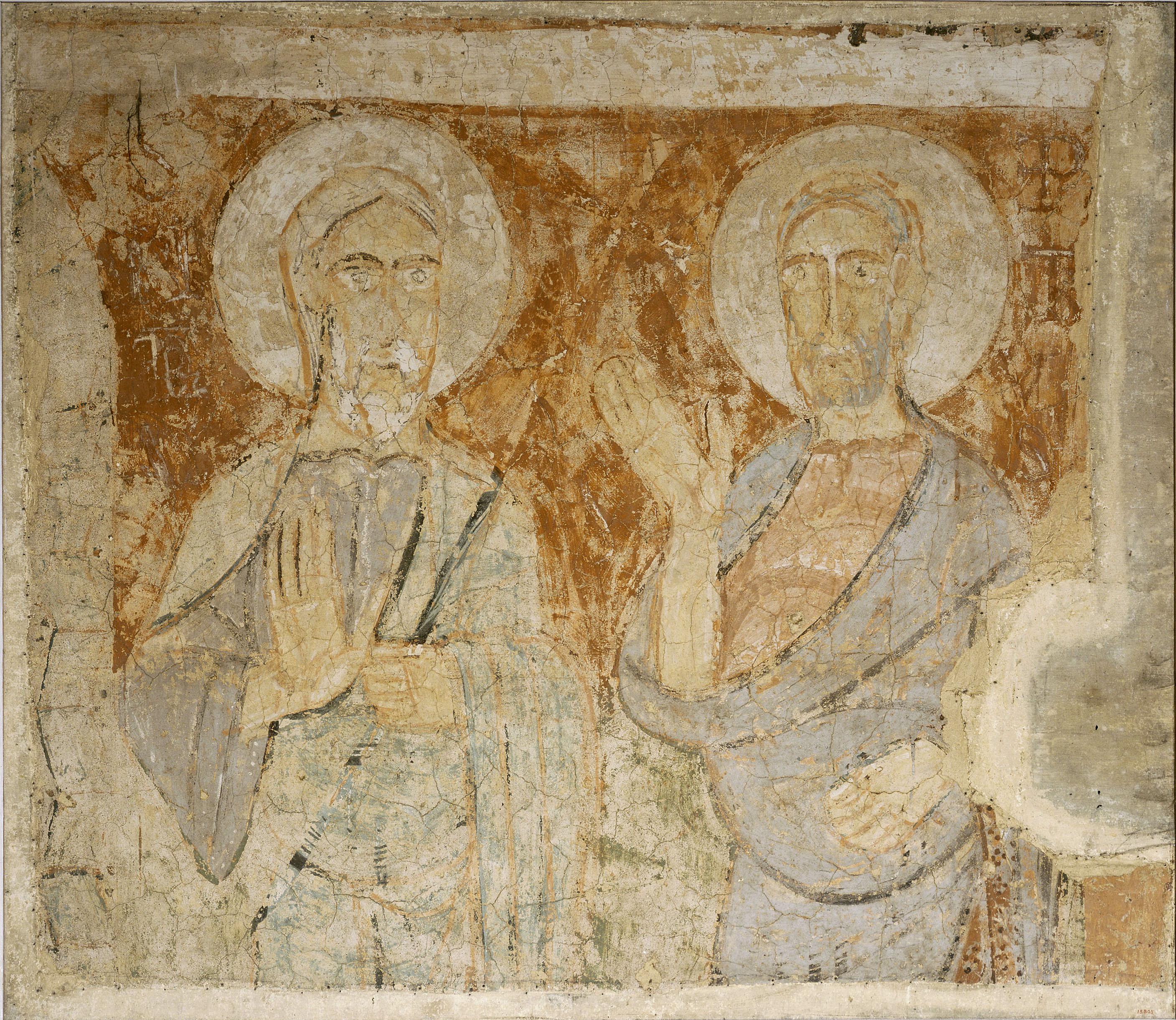 Mestre de la Seu d'Urgell - Fragment d'un segon arrencament dels apòstols Andreu i Pere, de la Seu d'Urgell - Segon quart del segle XII