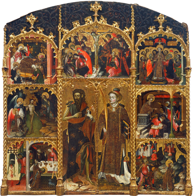 Mestre de Badalona - Retaule de sant Joan Baptista i sant Esteve - Primer terç del segle XV