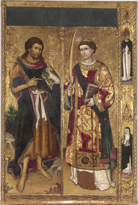 Mestre de sant Joan i sant Esteve - Sant Joan Baptista i sant Esteve - Cap a 1450