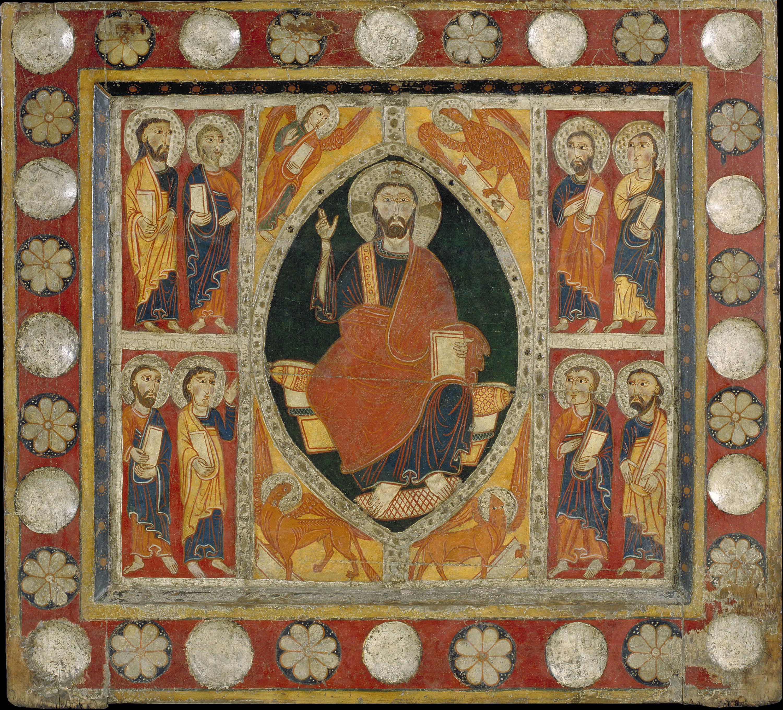 Anònim. Catalunya. Taller de la Seu d'Urgell del 1200 - Frontal d'altar de Sant Romà de Vila - Primer terç del segle XIII