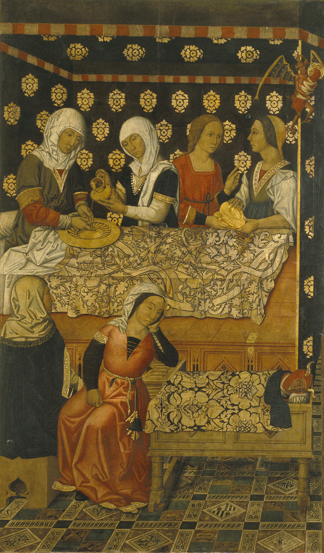 Grup Vergós - Naixement de sant Esteve - Cap a 1495-1500