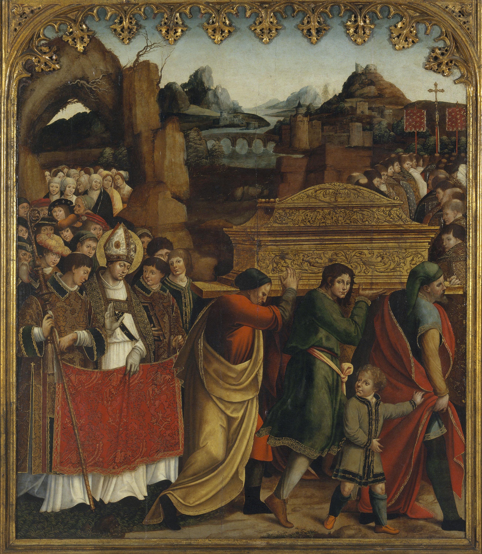 Pere Nunyes - Traslació del cos de sant Marçal - 1526-1529