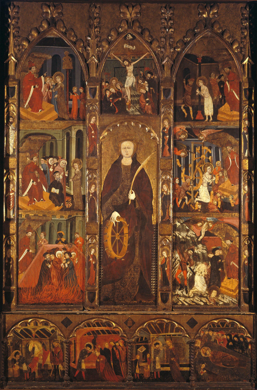 Mestre de Castellbò - Altarpiece of Saint Catherine and Saint Eligius - Circa 1400