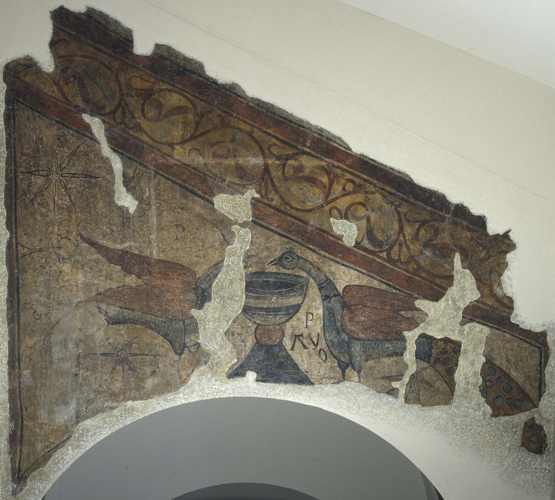 Mestre de Santa Maria de Taüll - Paons abeurant-se d'un calze de Santa Maria de Taüll - Cap a 1123