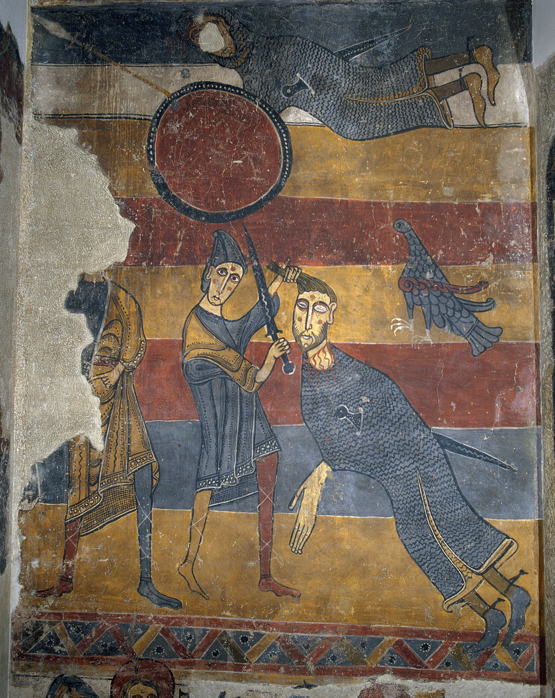 Mestre del Judici Final - Lluita de David i Goliat i altres escenes de Santa Maria de Taüll - Després de 1123