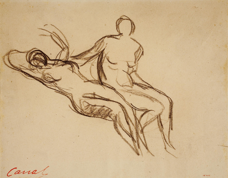 Ricard Canals - Apunt de nus femenins - Cap a 1920