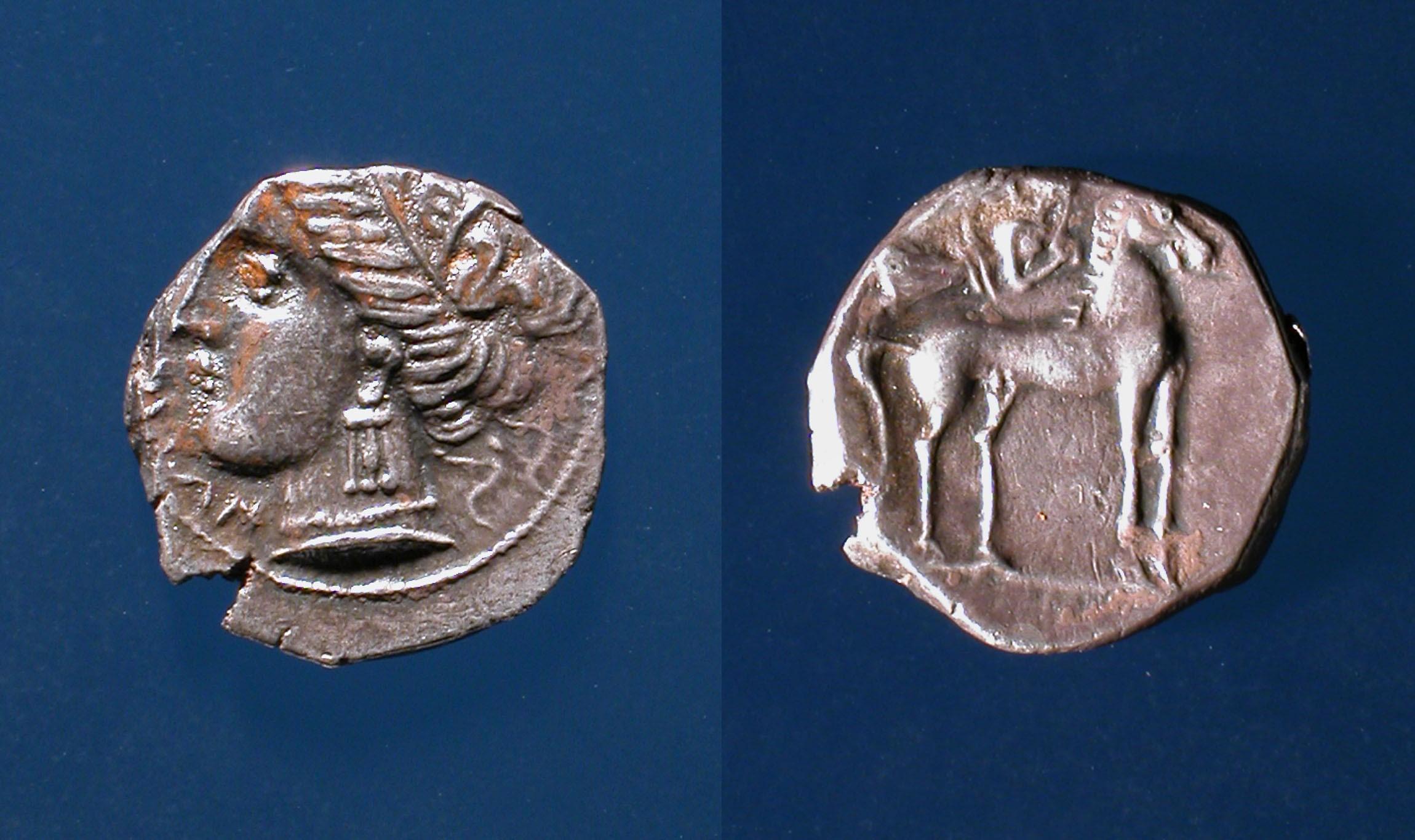 Emporion - Dracma d'Emporion - Primer quart del segle III aC