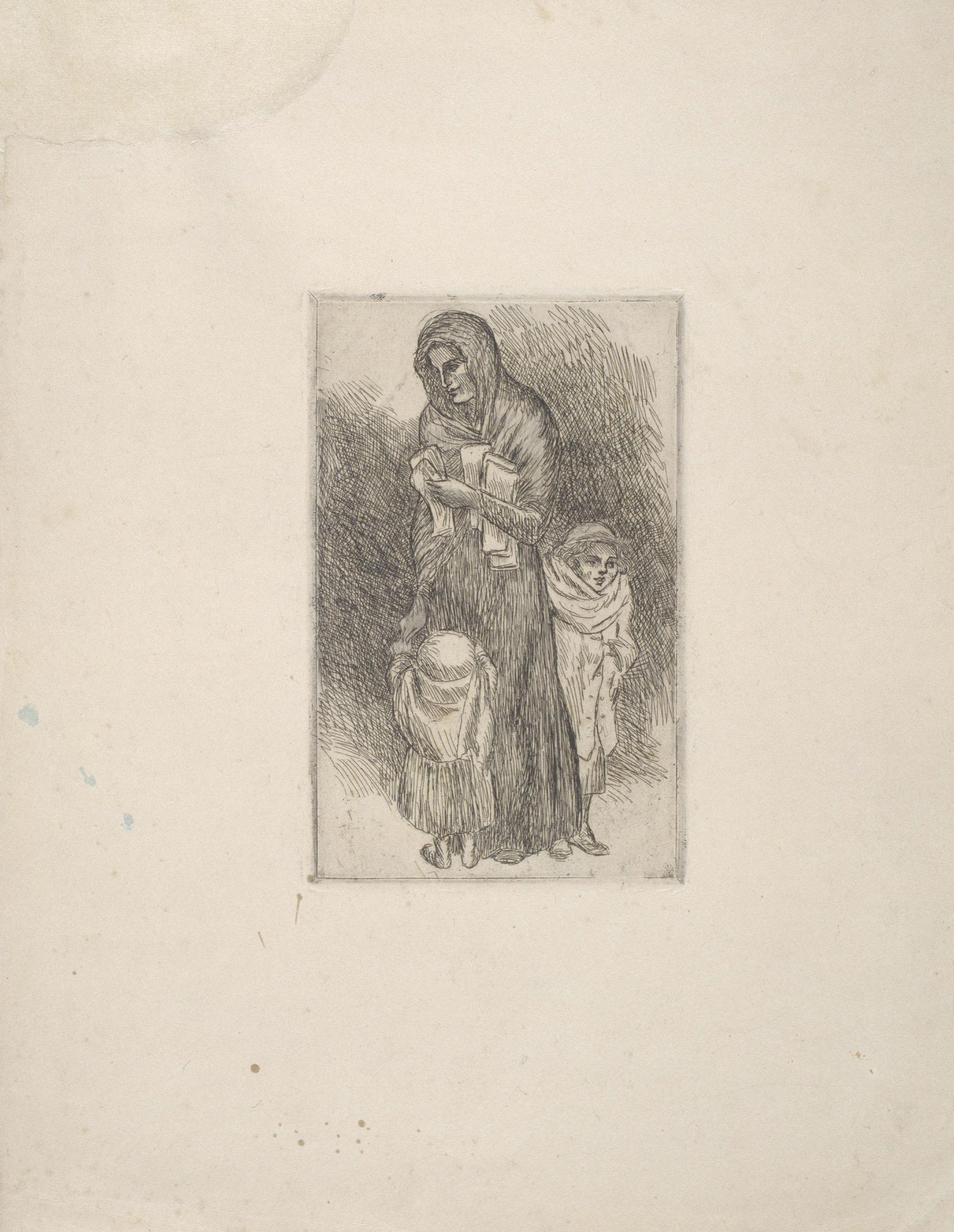 Juli González - Dona amb nens (Femme aux enfants) - Cap a 1904-1910