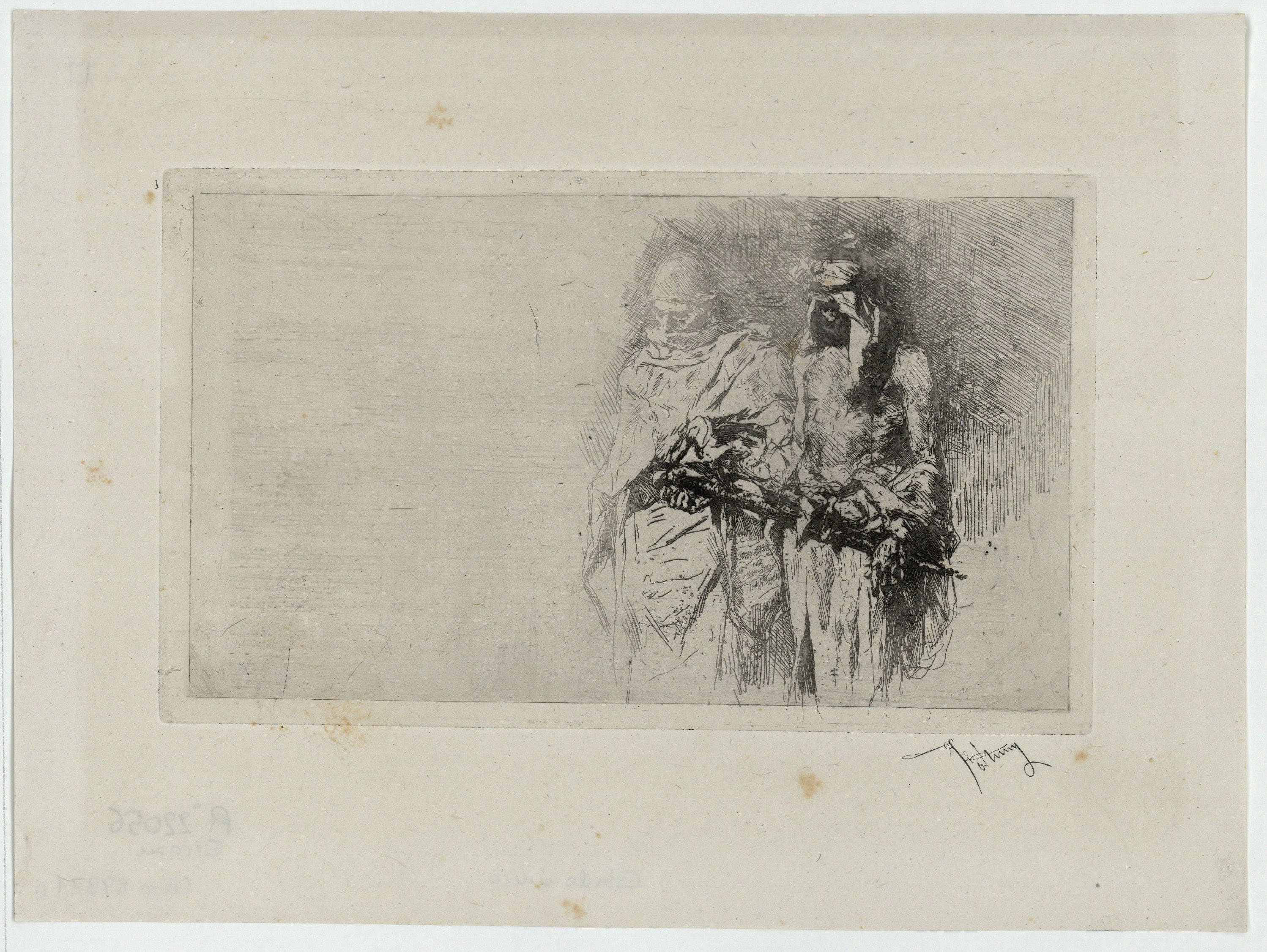 Marià Fortuny - Rough sketch (Moroccans) - [no-dating]