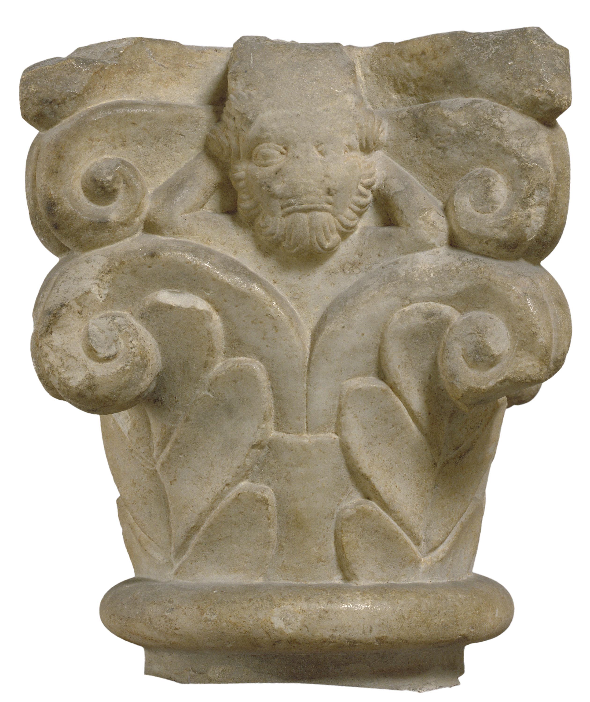 Anònim - Capitell amb decoració vegetal i figuració - Segona meitat del segle XII