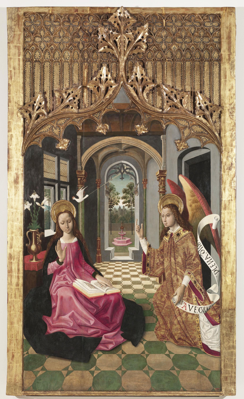 Mestre de la Seu d'Urgell - Anunciació - Cap a 1495