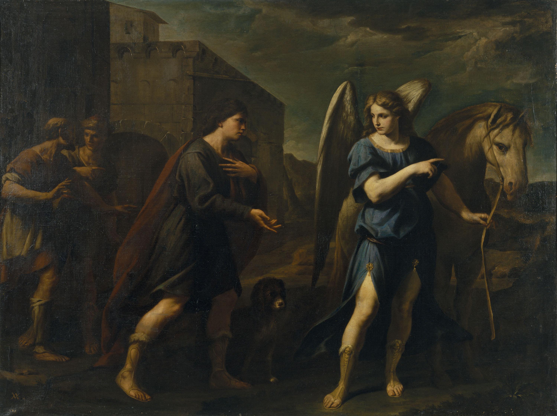 Andrea Vaccaro - Trobada de Tobies amb l'arcàngel Rafael - 1667